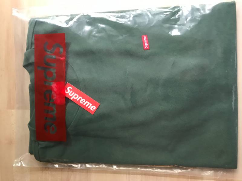 Supreme Small Box Pique Tees M green - photo 1/5