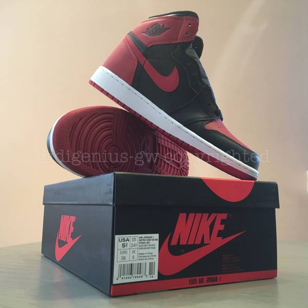new arrival 3730d 7a462 ... Nike Air Jordan 1 Retro High Bred BANNED GS 38 5.5 5 AJ ...