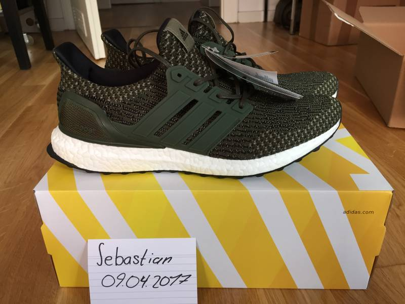 Ultra Boost 3.0 Trace Cargo Men 's Sz 8.5 100% Authentic Wth