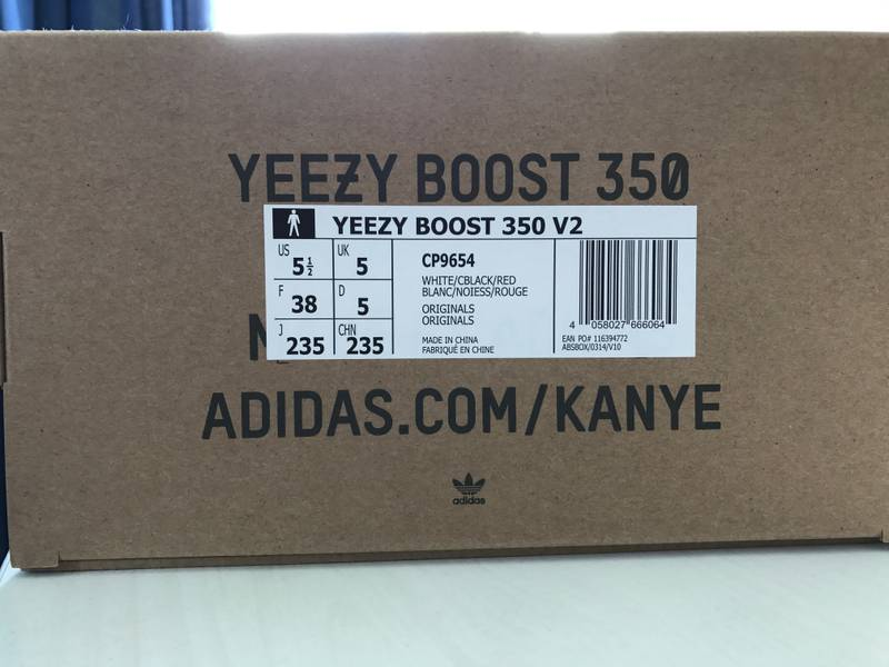 3e4474f4fc6a ... real on the opposite side adidas yeezy boost 350 v2 zebra us 55 eu 38  photo