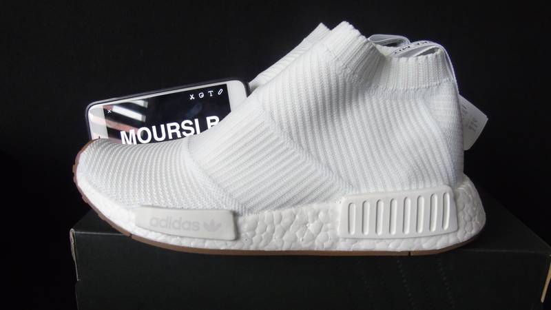 Adidas NMD R2 Primeknit Triple White Men's Trainers All Sizes UK 6