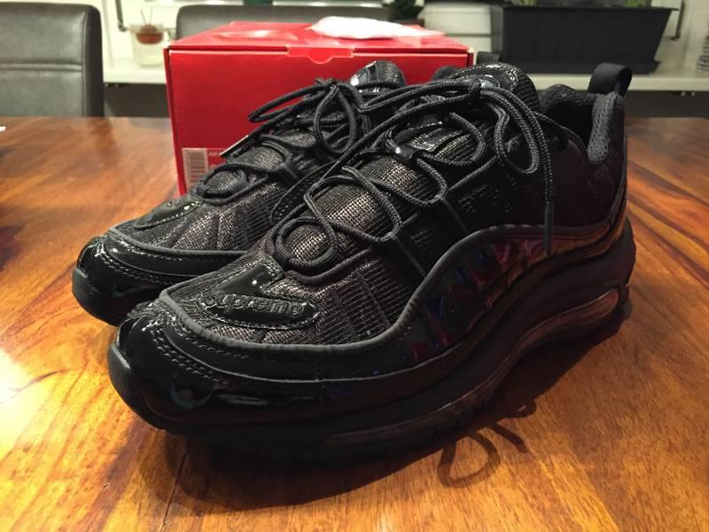sports shoes 9eb9c 9af0c supreme x nike air max 98 quotblackquot