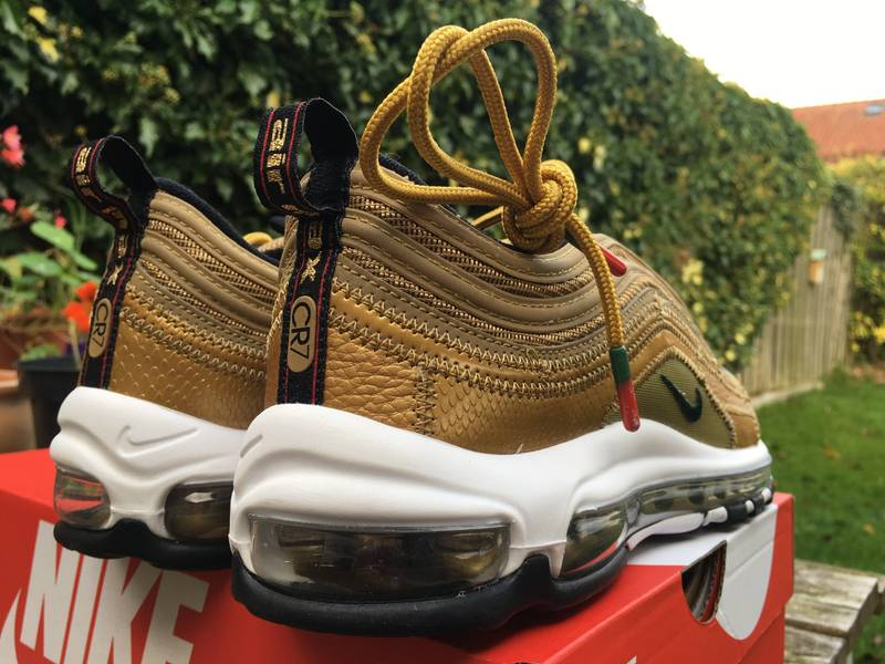 new styles 42f7a 6522b cristiano ronaldo with nike air max 97 cr7 gold