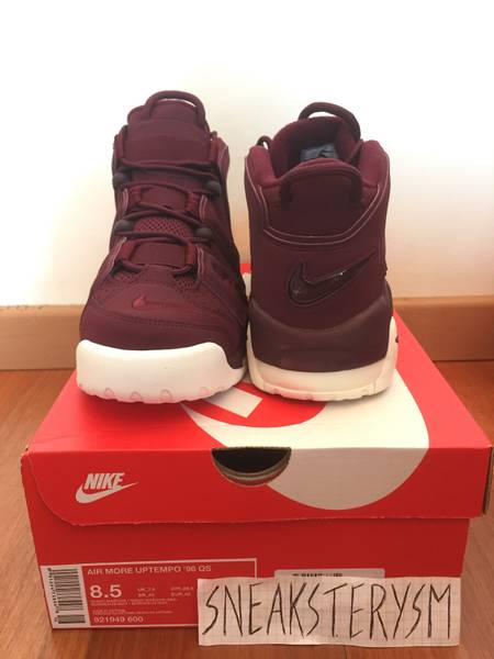 e54133fc2d8407 ... Nike Air More Uptempo 96 QS Night Maroon bordeaux burgundy US 8.5 9 EU  42 42.5 ...