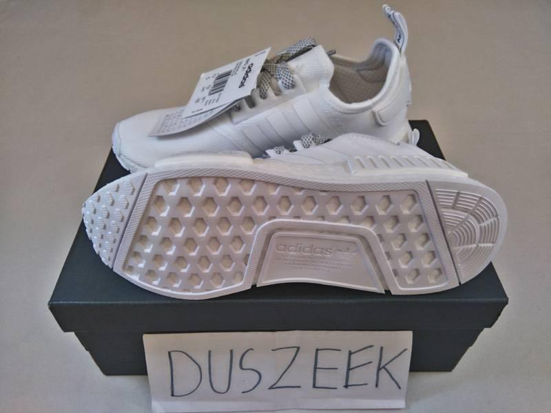 Adidas NMD R1 Mesh Triple White Allwhite Monochrome 43 1/3 ; 44