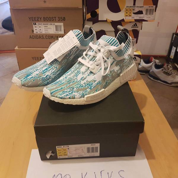 Adidas NMD R1 Sneakersnstuff SNS Datamosh Clear Aqua BB6364 - photo 3/6