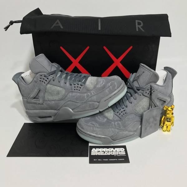 premium selection 8b6cb d109d ... Nike Air Jordan 4 Retro x Kaws 930155 003 US8.5 42 bred royal Blue ...
