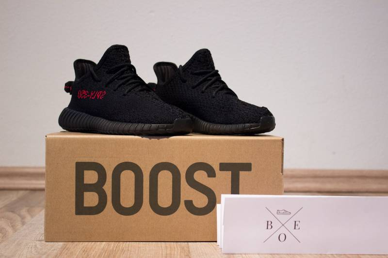 Amazon Yeezy Boost 350 V2 Infant BB6372 black/ red Sneakers