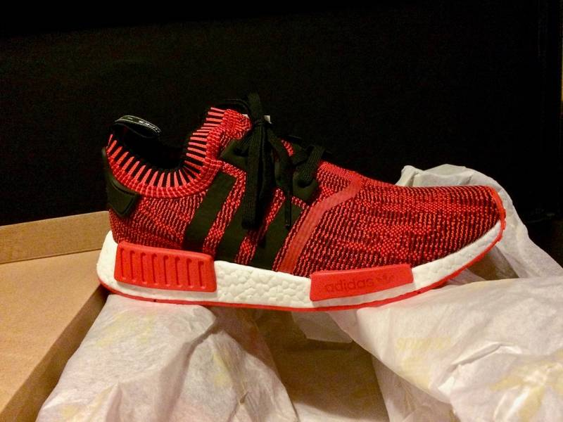 huge discount 092fe f193b 2017 adidas nmd r1 primeknit red apple nyc bright red white ...