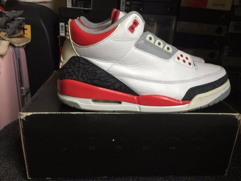 superior quality f53cc 9c27a ... black cement f80f7 9e8c0  france air jordan 3 fire red 2006 photo 4 5  36b02 8e514