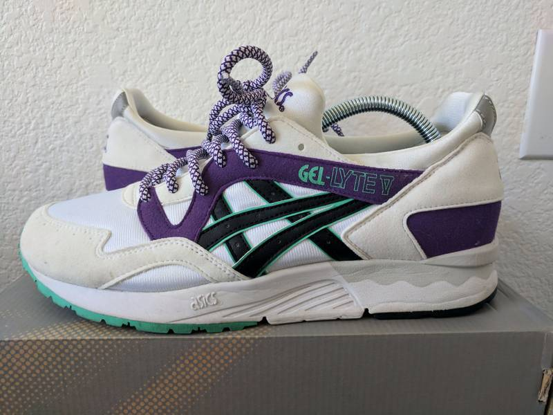 Asics Gel Lyte V Retro OG White/Purple 1st Retro Series - photo 2/8