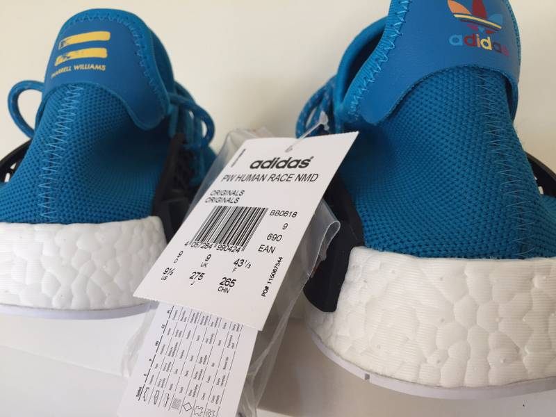 4c9e267fb33 Pharrell Human Race Being x Adidas Originals NMD Shale Blue On