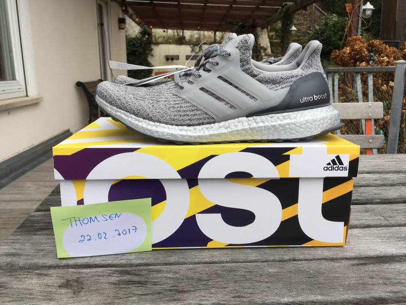 Adidas Ultra Boost 3.0 LTD 'Super Bowl' Edition Silver BA 8143 US 8