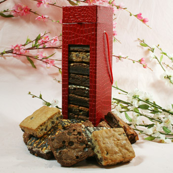Red Gift Box of Brownies