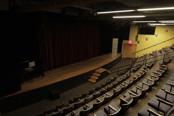 Theater space (used for magic performance), can be used for anything. 150 seats. Consists of 2 floors, Bar, Lobby, Party room, Theater, Dressing rooms, Green room, etc. Everything can be used except 3 offices. The rates may be higher if the theater have shows going on at the time of the shoot. Have to use parking structures or meters. Commercial Rate might change a little depending on the scale of the production.