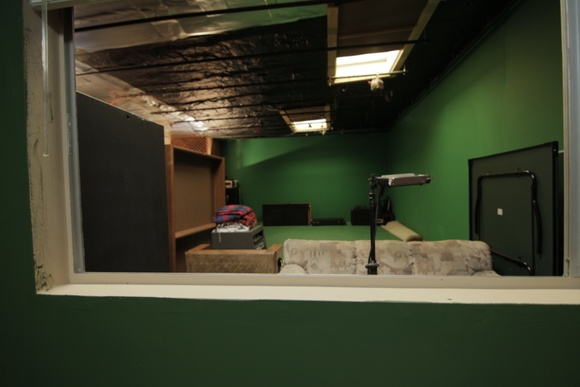 Green Screen Studio. Green Screen - 12 ft. Everything can be used except office.