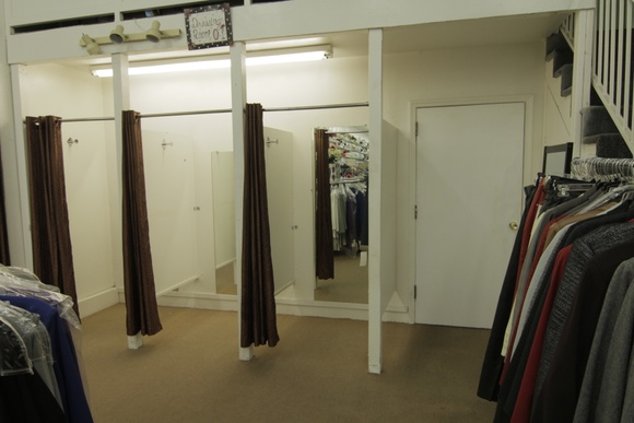 Store with 3 fitting rooms, upstairs area, storage and restroom. Business Hours: 9AM to 5PM. Allows closedown for extra pay.
