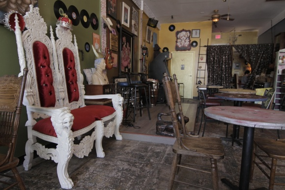 One of a kind coffee shop. 1 Floor. 2 Restrooms. The details in the cafe were carefully handcrafted, everything is made out of recycled goods. Closedown is allowed for $3000 a day.  Business hours:  Mondays 7am-11pm Tuesdays 7am-8pm Wednesdays 7am-10pm Thursdays 7am-11pm Fridays 7am-10pm Saturdays 7am-8pm Sundays 7am-7pm