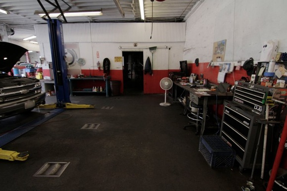 Auto Repair Shop. Allowed for filming: 6 auto repair bays, equipment room, 2 offices, small storage room, 1 bathroom and a washroom. Business Hours: Mon-Fri 8AM-5:30PM. Allows closedown for $1000 plus the rate.