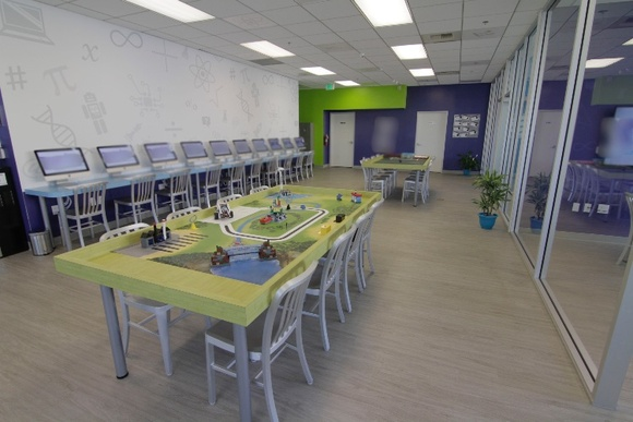 Gorgeous Technology School with wide open floor plan and lots of natural light. Business Hours: Mon-Fri (3PM-7PM), Sat (10AM-3PM). Allows full day closedown for $1000 + the rate. All rooms can be used except server room and limited use of office. Patio also available.
