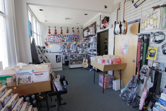 Music Center with studios for lessons with music instruments and Music Store. 9 rooms that can be used by production. Business Hours: Mon-Thu (1:30PM-7:30PM), Fri (1:30PM to 6PM), Sat (10AM to 5PM). NOTE: The closedown is allowed for extra pay. The rates stated are for non-business hours only. In a busy season (like Christmas), in case of interruption of business, depending on the scale of the production - the rates vary: student $100-$500, independent $200-$700, commercial $500+.
