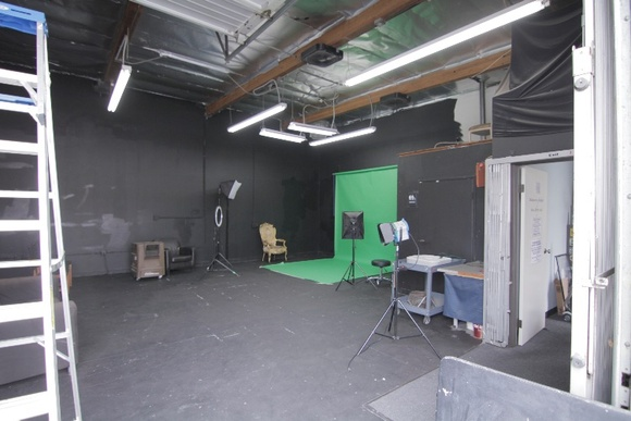 1200 sq feet of open production space. Great for building sets. All areas are to be used by production. Ground Floor. Loading Gate.