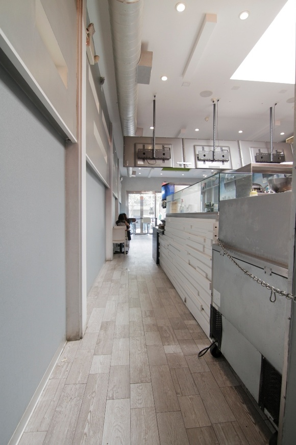 Fast Food Greek Cafe and Restaurant. Bright, clean, spacious, modern. Business Hours: Mon-Thu (10AM-9PM), Fri-Sat (10AM-2AM), Sun (10AM-9PM). Closedown of the business is $5000 + rate. Public parking nearby. Kitchen, Restaurant, Restroom.