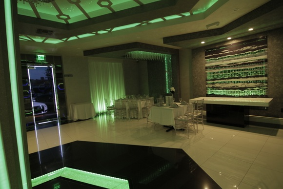 Modern & chic restaurant/banquet hall. Everything can be used except office.
