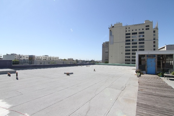 3rd Floor Rooftop with a DTLA view as well as office space with kitchen and restroom. There is a hallway and stairs on the way to the rooftop that are also available for filming. Nights shoots are not allowed. Filming only from 8AM to 11PM.