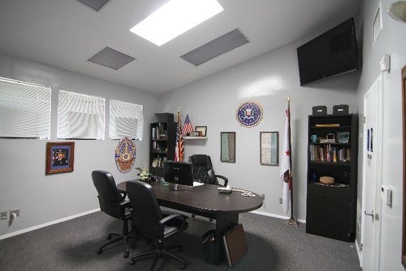 Studio with various sets inside to accommodate filming. Some of these are Doctors office/Patient Room, interrogation room, police office, conference room, FBI headquarters.