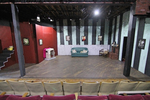 The theater has 3000 square foot space with 99+ seats, a covered patio, two bathrooms and a fully equipped light and sound system. Capable of molding itself to fit a variety of film needs. Perfect spot not only for filming but also to hold auditions and photo shoots.