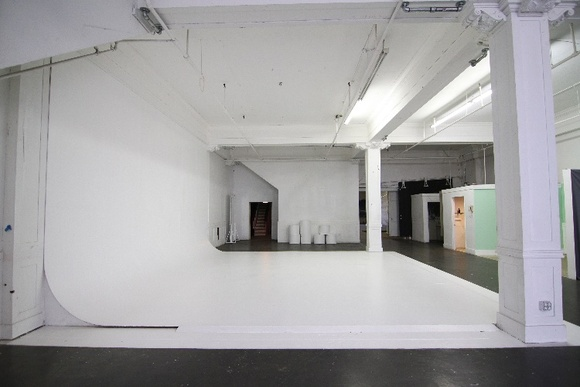 Studio with a white cyclorama, makeup room, restrooms, a standing set room. Outside area and alley can also be used upon negotiation. For crews higher than 40 people total the rate will be negotiable.