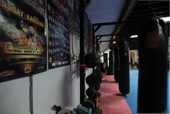 Boxing Gym with full size training ring and full equipment.Rooms: gym, dressing room, patio area. Business hours: Mon-Fri (8AM to 9PM), Sat (8AM to 4PM). Shooting only during off hours and non-scheduled.