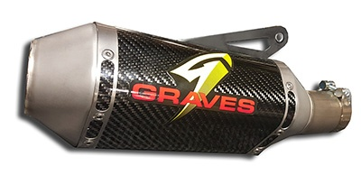 Graves Motorsports Yamaha R1 FZ10 Cat Back Slip-on Exhaust Carbon (EXY-15R1-CBTC)