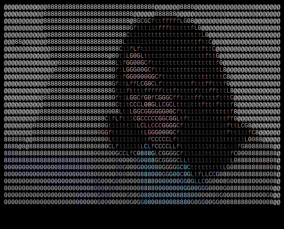 photo transformed with Filestack's image to ascii filter with all parameters and resized