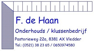 Klussenbedrijf F.de Haan