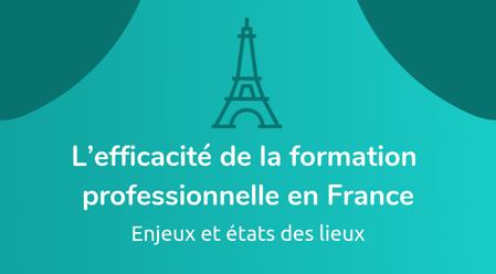 L'efficacité de la formation professionnelle en France : enjeux et états des lieux