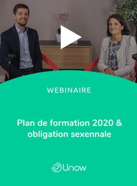 Plan de formation 2020 & obligation sexennale