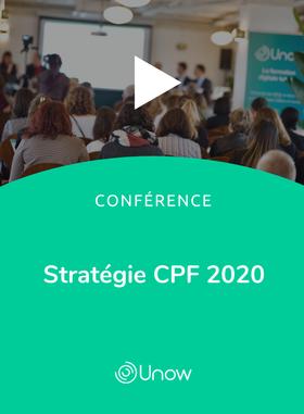 Vidéo replay - Conférence Stratégies CPF 2020