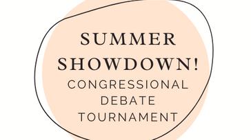 Summer Showdown Congressional Debate Tournament