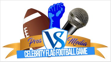Pros vs. Media Flag Football Game