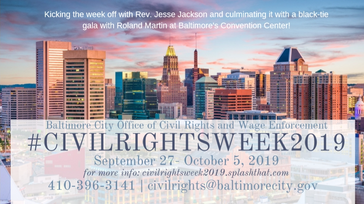 Baltimore City Civil Rights Week 2019