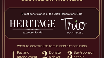 Community Reparations Gala - Justice on the Menu