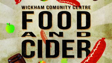 Food and Cider at Wickham Community Centre