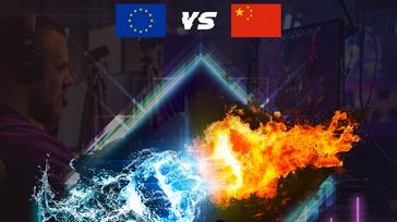 League of legends EU vs CHN Fans Rivals Grand Final