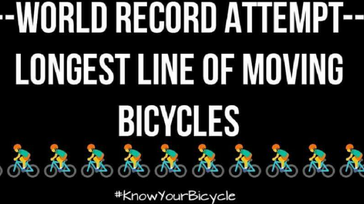 GWR Attempt of Longest Line of Moving Bicycles