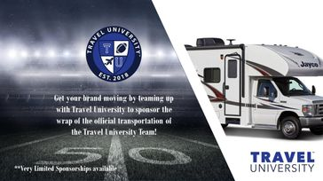 Travel University Official Transportation Wrap