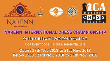NARENN INTERNATIONAL FIDE RATED CHESS CHAMPIONSHIP