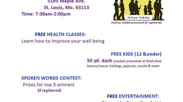 5K Prayer Walk/Run & Community Health Expo