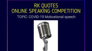 ONLINE PUBLIC SPEAKING COMPETITION